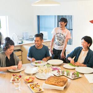 みんなで楽しく一緒に料理